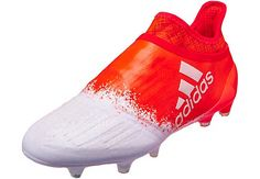 adidas Womens X 16+ Purespeed FG Soccer Cleats - White  amp  Solar Red  9d74097165