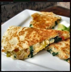 Chicken, Spinach and Cannellini Bean Quesadillas | Cake And Food Recipe