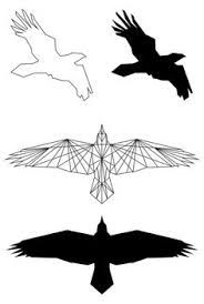 Image result for geometric raven tattoo