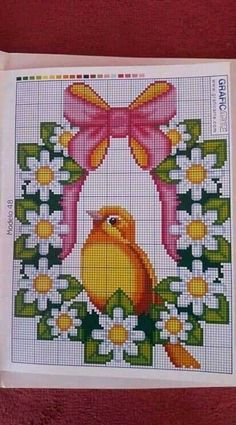 Butterfly Cross Stitch, Cute Cross Stitch, Cross Stitch Bird, Cross Stitch Flowers, Cross Stitching, Cross Stitch Embroidery, Disney Cross Stitch Patterns, Cross Stitch Designs, Tapestry Crochet