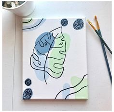 Small Canvas Paintings, Easy Canvas Art, Small Canvas Art, Cute Paintings, Mini Canvas Art, Diy Canvas, 3 Piece Canvas Art, Easy Canvas Painting, Happy Paintings
