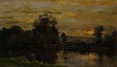 Charles-François Daubigny - Paysage avec canards (1872)