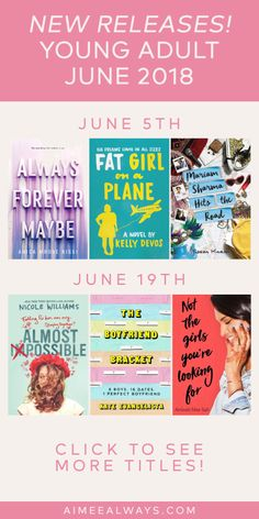 June 2018 YA New Releases tagged: #books, #youngadult, #novels, #reader, #readinglist, #reading, #reads, #booklover