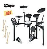 Roland V-Drums Drum Set Bundle with Drum Throne, Drum Sticks, Fast Track Drum Book, and Austin Bazaar Polishing Cloth