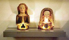 female reliquary busts circa 1340/50, St. Ursula at left