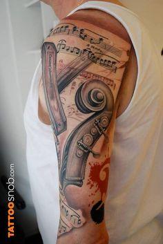 Fabulous Music Tattoos For Guys