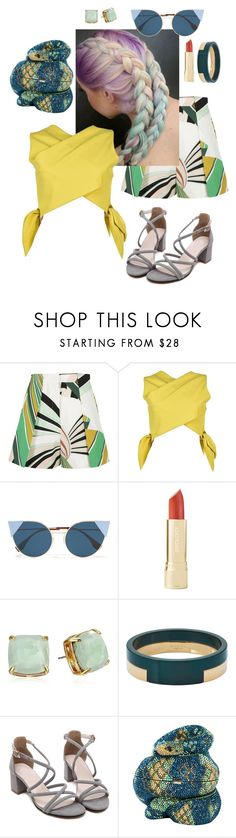 """""""Untitled #118"""" by madeline-stoken ❤ liked on Polyvore featuring beauty, Emilio Pucci, MSGM, Fendi, Kate Spade, Marni and Judith Leiber"""
