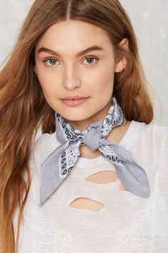 When the Dust Settles Square Bandana - Gray | Shop Accessories at Nasty Gal!