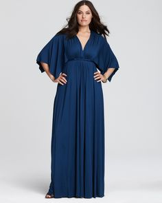 Plus Size Maxi Dresses | Rachel Pally White Label Plus Size Caftan Knit Maxi Dress
