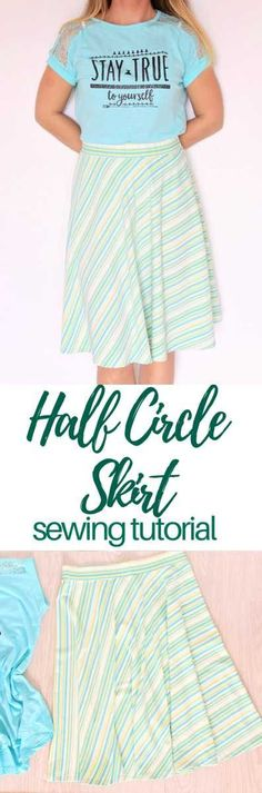 HALF CIRCLE SKIRT - Put together an amazing skirt that will fit you just perfectly with this easy half circle skirt tutorial! No zipper involved, ready in no time!  #easypeasycreativeideas #sewing #sewingpattern #sewingtutorial #sewingprojects #sewinginspiration #skirt