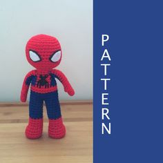 Spiderman Amigurumi Crochet Pattern