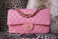 3caaba34fcf164 Timeless Luxuries - CHANEL Pink Calfskin Classic Double Flap Bag Gold Hw