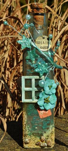 """Escape"" Altered Bottle  **Scraps of Darkness** - Scrapbook.com"