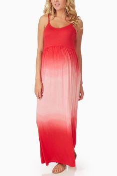 Red Ombre Maternity Maxi Dress #maternity #fashion