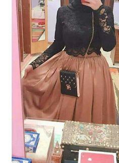New Dress Simple Hijab Beautiful Ideas Modern Hijab Fashion, Hijab Fashion Inspiration, Muslim Fashion, Hijab Evening Dress, Hijab Dress Party, Stylish Dresses, Casual Dresses, Skirt Fashion, Fashion Dresses