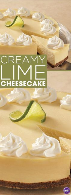 Creamy Lime Cheesecake Recipe - Try this delicious, creamy and tart Creamy Lime Cheesecake recipe that's great to make for any occasion. This recipe makes 12-16 servings.