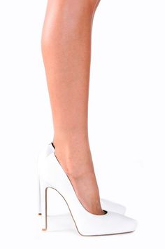 Jeffrey Campbell Shoes OUZEL Platforms in White