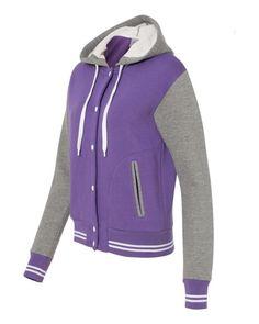MV Sport Ladies Varsity Sweatshirt W2344