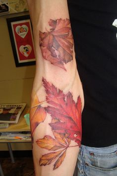 More leafy goodness. This is the inner-arm view of the elbow tattoo that I pinned a while back.