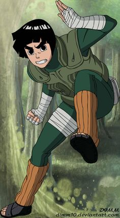 Rock Lee by on DeviantArt Naruko Uzumaki, Naruto Shippuden Sasuke, Naruto Kakashi, Naruto Art, Gaara, Rock Tattoo, Akatsuki, Rock Lee Naruto, Anime Ninja