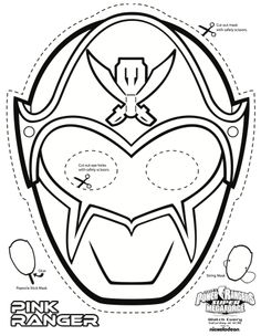 SUPER MEGA Power Rangers Printable - Coloring Masks | All Mommy Wants