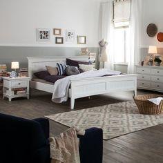 Bett Abbey - Weiß