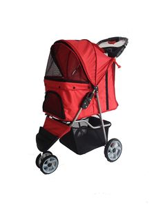 PUPPYMATE® Pet Stroller Cat Dog 3-Wheel Walk Jogger Travel Folding Carrier Deluxe(Multicolor) => Tried it! Love it! Click the image. : Dog strollers