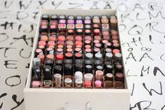 diy makeup organizer | Cute Dumpling: DIY: Lipstick Organizer