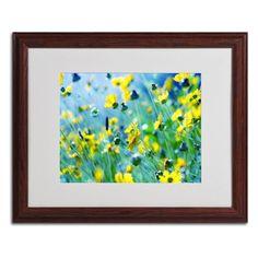 Trademark Fine Art Flower Power Framed Wall Art - BC0085-