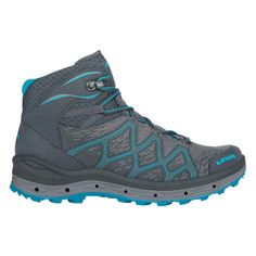 If you are looking for a light, flexible and above all comfortable multi-functional shoe, the new AEROX GTX Mid Ws models are the perfect choice. Thanks to innovative GORE SURROUND technology, an optimal environment for the foot and the highest level of comfort are guaranteed at all times. This sporty all-rounder is also equipped with cushioned LOWA DynaPU, a stabilising frame and LOWA MONOWRAP to ensure it can meet the high demands placed on it by modern mountaineers. Hiking Boots Women, Hiking Shoes, Camping Outfits For Women, Navy Women, Gore Tex, Fabric Material, Shoe Boots, Footwear