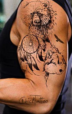 Dreamcatcher, Bear, Wolf, Eagle