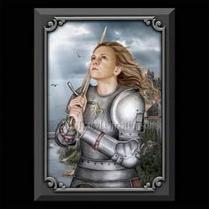 St. Joan of Arc Plaque & Holy Card Gift Set