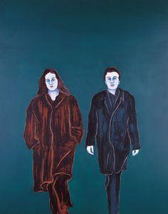Sans titre, 2003. Huile et cire sur toile. 250X200 cm Djamel Tatah