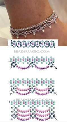 Seed bead tutorials, Beaded jewelry patterns, and more Pins trending on Pinteres. - Famous Last Words Seed Bead Tutorials, Free Beading Tutorials, Beading Patterns Free, Beaded Necklace Patterns, Beaded Necklaces, Bead Earrings, Beaded Bead, Flower Earrings, Beaded Anklets