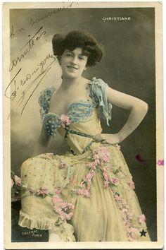 Vintage French RPPC Postcard Actress Stage Star Miss Christiane Sazerac | eBay