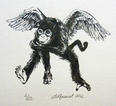 Pretty - A Flying Monkey Print | Felt
