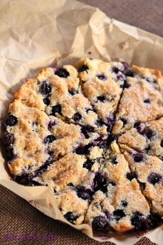 gluten free blueberry coconut and scones