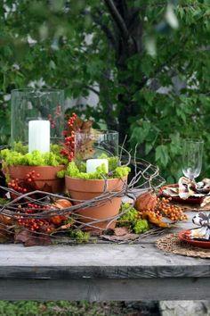Candles, grapevine, & pots!