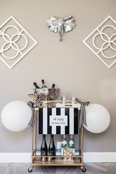 Black and white baby shower | Shop. Rent. Consign. MotherhoodCloset.com Maternity Consignment