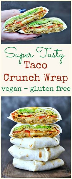Taco Crunch Wrap @spabettie #vegan #glutenfree