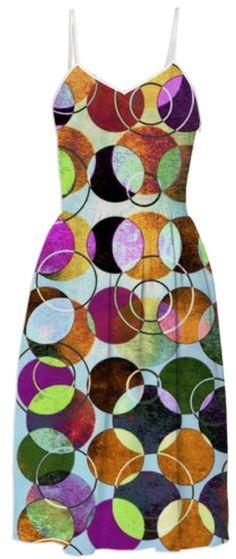 MELANGE OF CIRCLES IV - Dress II from Print All Over Me. #pattern #women #dress #summerdress #fashion #geometric #art #paom