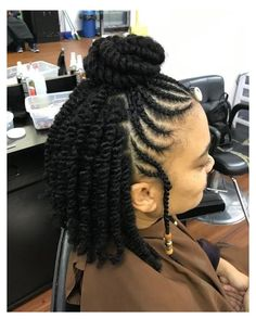 See more medium-length to long protective styles for natural hair braids. Easy style for Black women and for kids in school. See how low maintenance your hair can. Box Braids Hairstyles, Natural Braided Hairstyles, Natural Hair Braids, Braided Hairstyles For Black Women, Braids For Black Hair, Natural Hair Cornrow Styles, Natural Hair Twist Styles, Shaved Natural Hair, Natural Protective Hairstyles