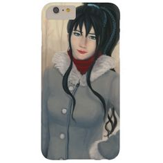 Pretty Black Haired Woman In Coat Illustration Barely There iPhone 6 Plus Case