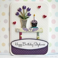 Paper Quilled Birthday Card