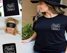 Maid Of Honor Gift set: Maid of Honor Can holder Maid Of Honor Sleep Mask Maid Of Honor Shirt Maid Of Honor Tote Bag