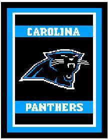 Carolina Panthers Logo Crochet Afghan Graph Pattern DOWNLOADABLE 09563e315