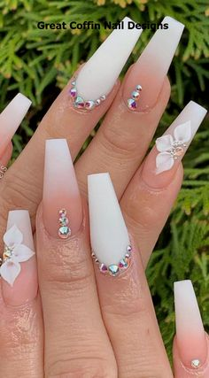 phenomenal ombre nail art designs ideas for this year - # for . - Beauty - Nail art designs - Hybrid Electronics , phenomenal ombre nail art designs ideas for this year - - Beauty - Nail art designs -. White Acrylic Nails, Best Acrylic Nails, Matte Nails, Gel Nails, Nail Polish, Acrylic Summer Nails Coffin, Acrylic Nail Designs Coffin, Nail Nail, Manicures