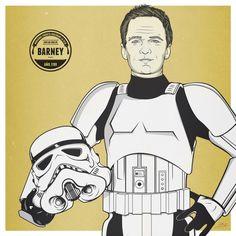 Daddy's Home _ Barney Stinson Stormtrooper by Agu Mendez, via Behance