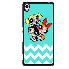 The Powerpuff Girls Chevron TATUM-10974 Sony Phonecase Cover For Xperia Z1, Xperia Z2, Xperia Z3, Xperia Z4, Xperia Z5