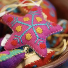 Soft Flannel Mexican Christmas Ornaments